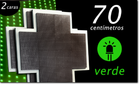 cruz de farmacia led VERDES